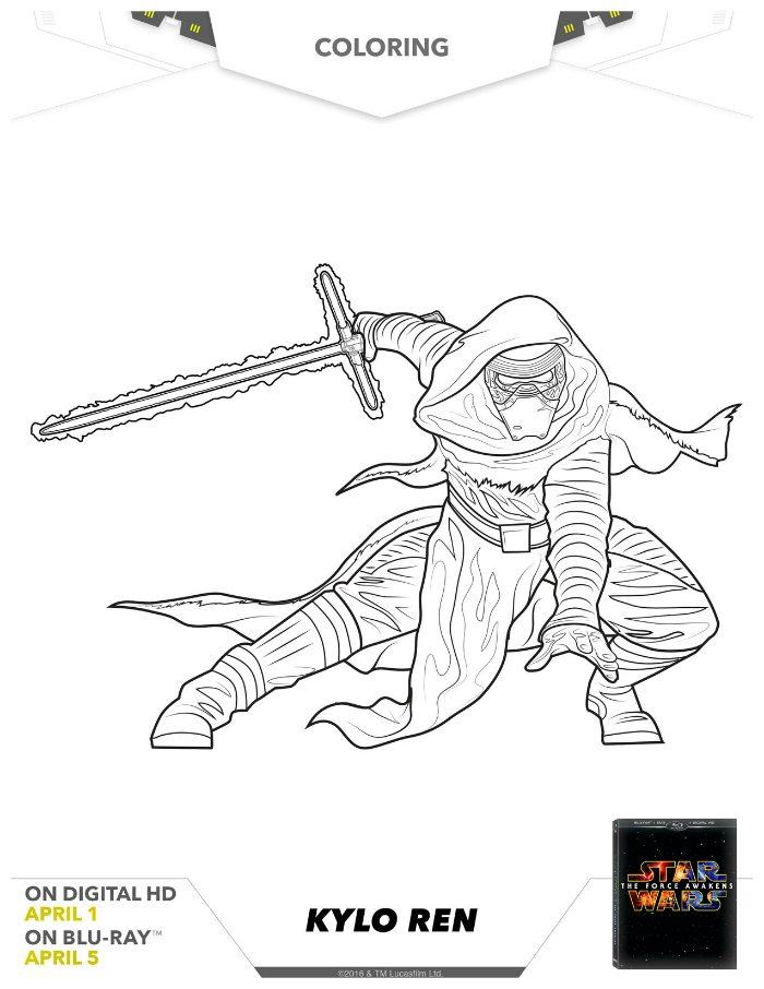 Star wars kylo ren coloring page mama likes this for Kylo ren coloring page