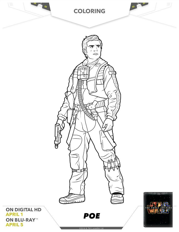 Star Wars Poe Coloring Page Mama Likes This Wars Free Coloring Pages