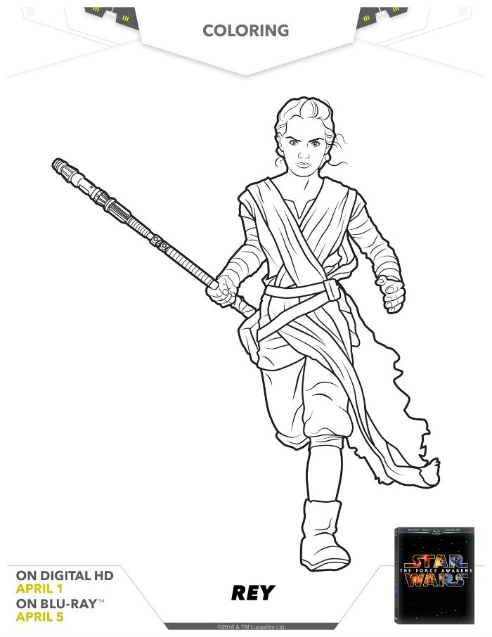 Ray Coloring Picture Star Wars Rey Page Mama Likes This