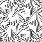 Free Printable Star Pattern Coloring Page