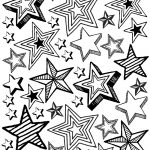 Printable Star Party Coloring Page