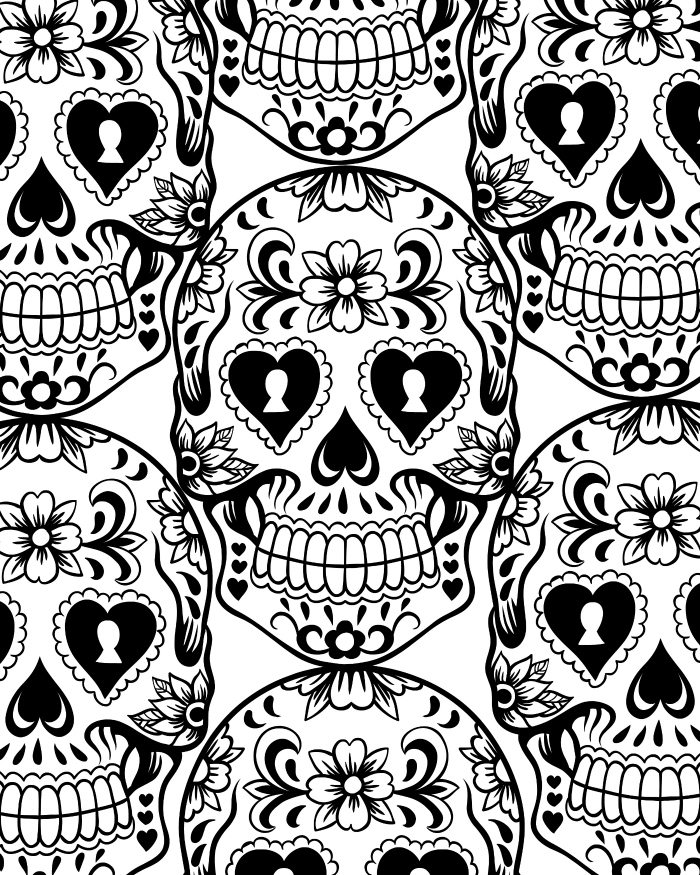 dia de los muertos sugar skull coloring page mama likes this