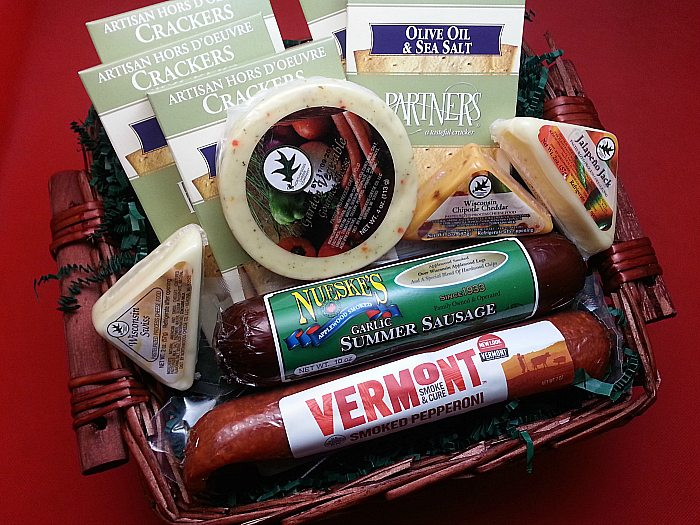 Gourmet Meat & Cheese Gift Basket