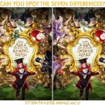 Alice Through The Looking Glass Spot The Differences Activity Page