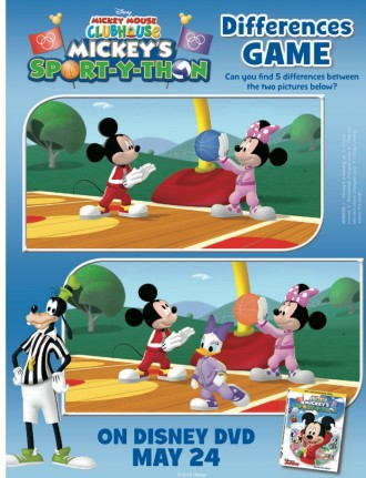 Mickey Mouse Clubhouse Spot The Differences Activity Page