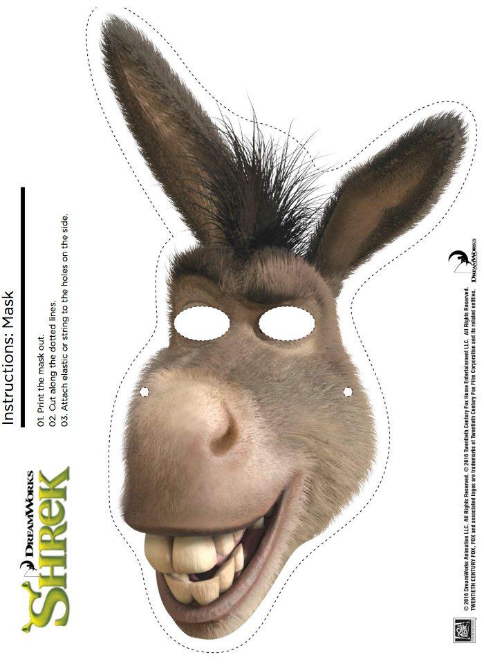 Free Printable Donkey Mask From Shrek Mama Likes This