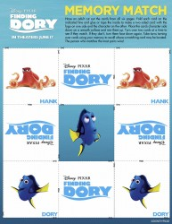 Printable Finding Dory Memory Matching Game