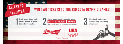 Budweiser Drizly Olympics Sweepstakes – Enter Today!