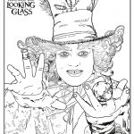 Alice Through The Looking Glass  Hatter Coloring Page