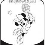 Mickey Mouse Clubhouse Minnie Mouse Tennis Coloring Page