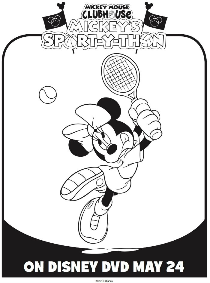 - Mickey Mouse Clubhouse Minnie Mouse Tennis Coloring Page Mama Likes This
