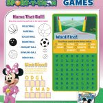 Mickey Mouse Clubhouse Printable Puzzle Page