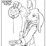 Free Alice Through The Looking Glass  Printable Coloring Page
