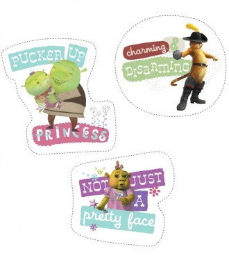 Free Printable Shrek Stickers - Not Just a Pretty Face