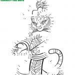 Kung Fu Panda Tigress Connect The Dots Coloring Page