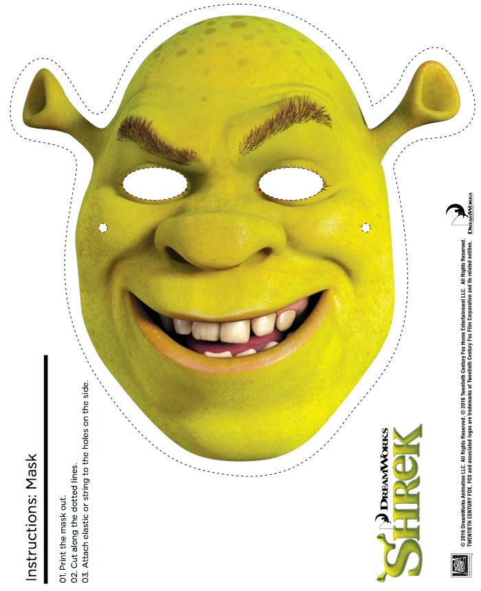 photo regarding Printable Masks known as Absolutely free Printable Shrek Mask Craft Mama Likes This