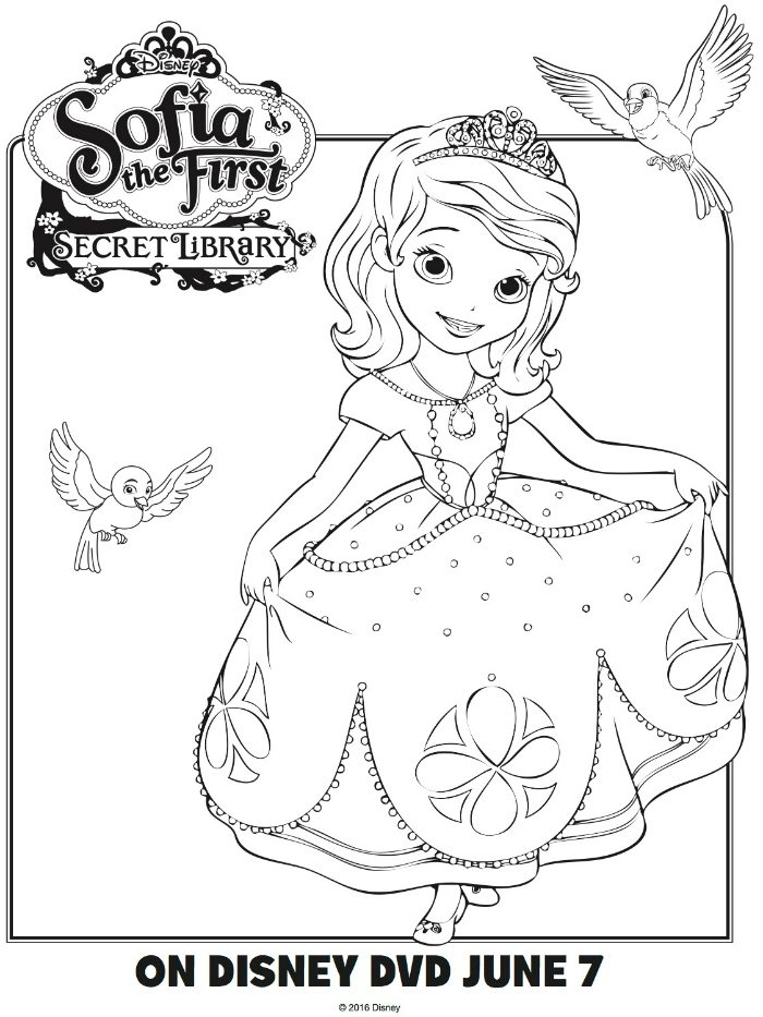 Sofia the first coloring page mama likes this for Sofia the princess coloring pages