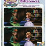 Disney Sofia the First Spot the Differences Activity Page