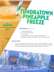 Disney Zootopia Pineapple Freeze Drink Recipe