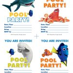 Free Finding Dory Pool Party Invitations