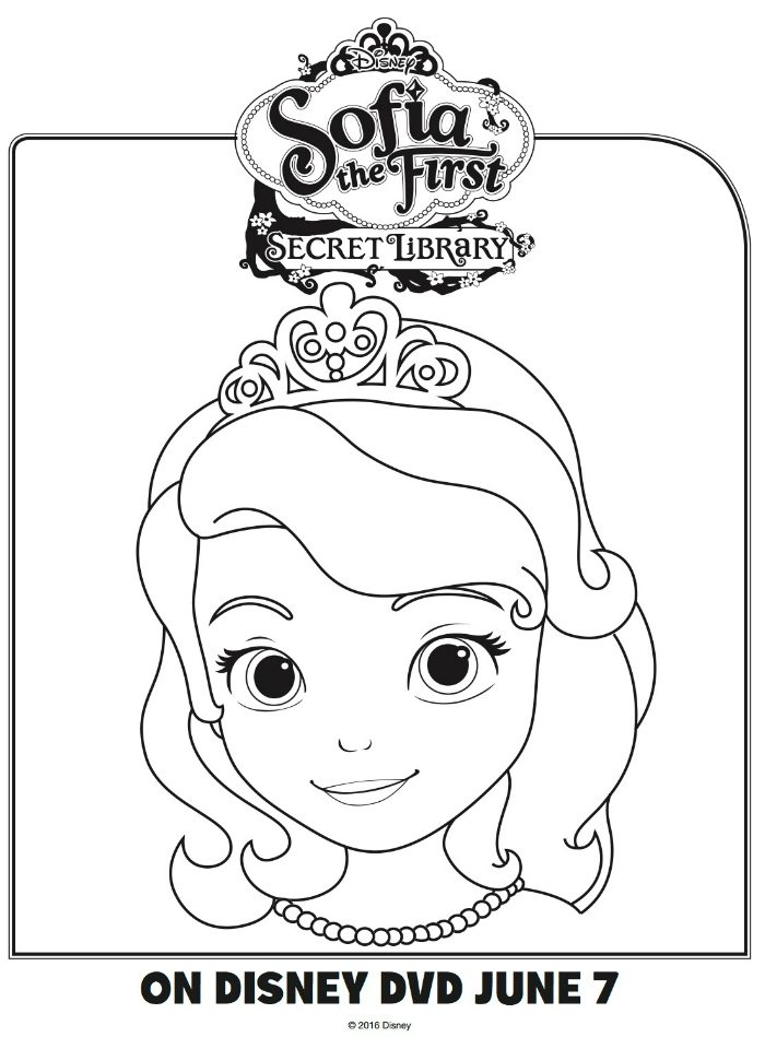 Disney Sofia the First Coloring Page | Mama Likes This