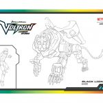 Voltron Black Lion Coloring Page