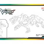 Voltron Blue Lion Coloring Page