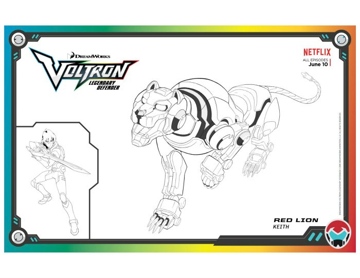 Voltron Legendary Defender In Coloring Pages: Voltron Legendary Defender Red Lion Coloring Page