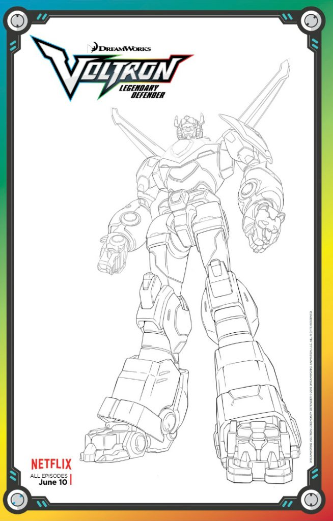 Free Voltron Legendary Defender Coloring Page Mama Likes This