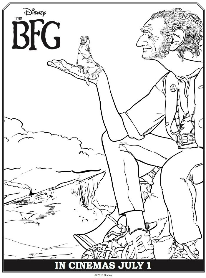 Disney The BFG and Sophie Coloring Page | Mama Likes This