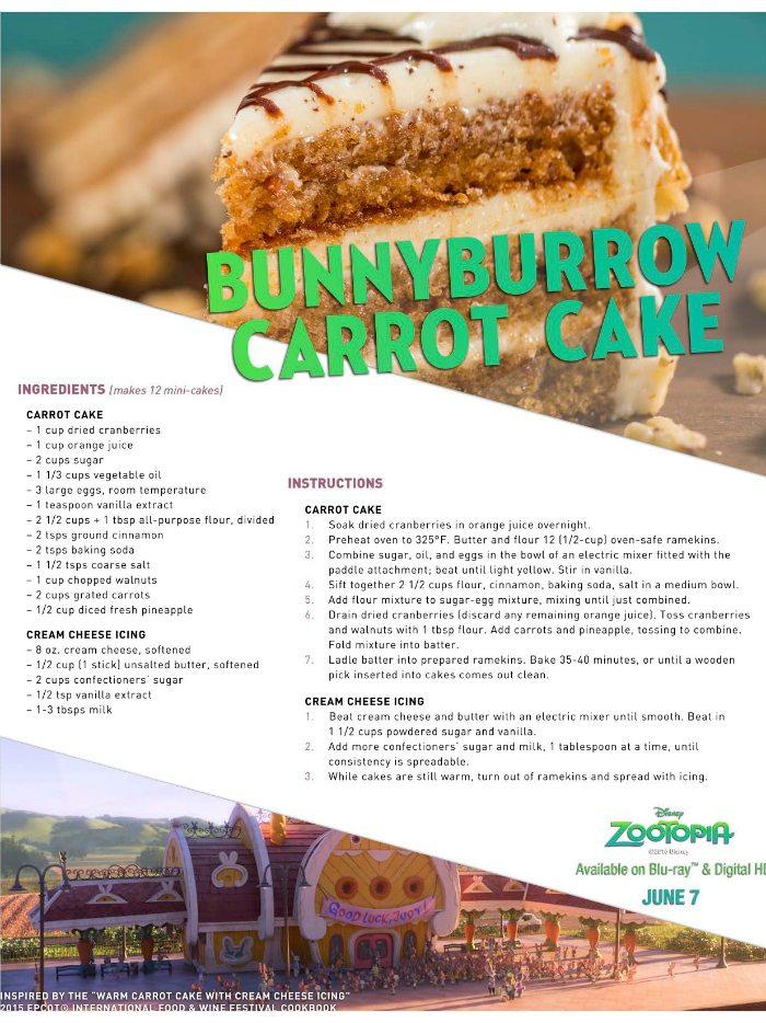 Disney Zootopia Carrot Cake Recipe