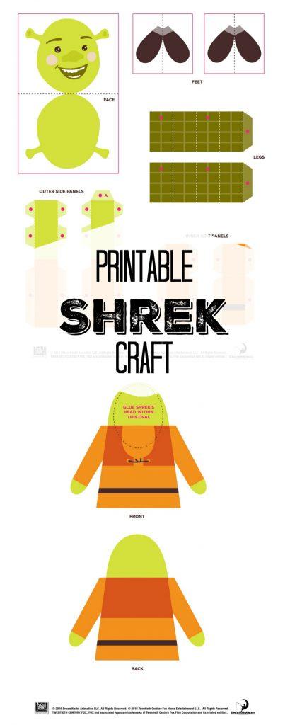 Free Printable Shrek Craft