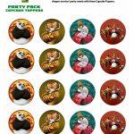 Free Kung Fu Panda Cupcake Toppers