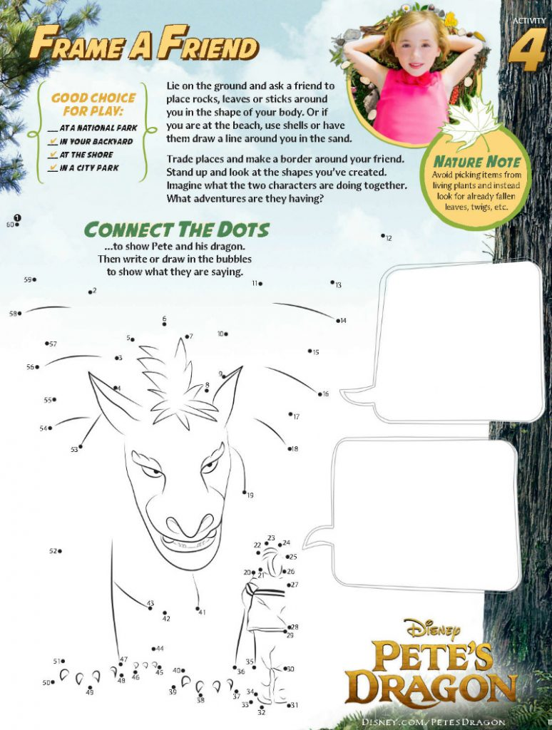 Disney Petes Dragon Connect The Dots Activity Page