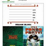 Free Kung Fu Panda Party Invitations