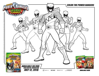 Power Rangers Dino Charge Coloring Page