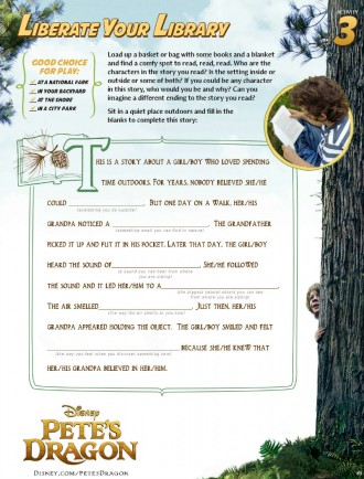 Disney Pete's Dragon Fill in The Blanks Story