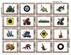 DIY Dinotrux Matching Game