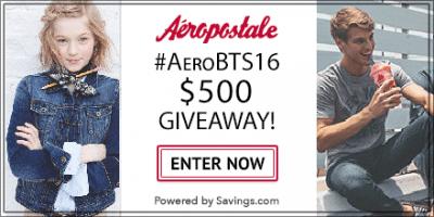 Giveaway – $50 Aeropostale Gift Card – 10 Winners