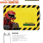 Dinotrux Printable Treat Bag Name Tag Labels