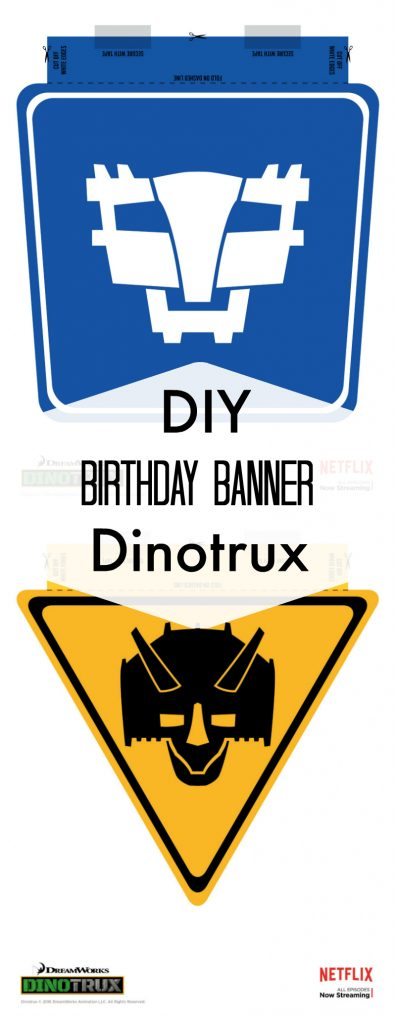 DIY Dinotrux Happy Birthday Banner