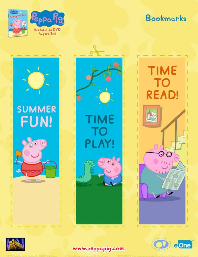 Free Peppa Pig Bookmarks