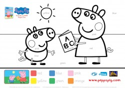 Peppa Pig Educational Coloring Page