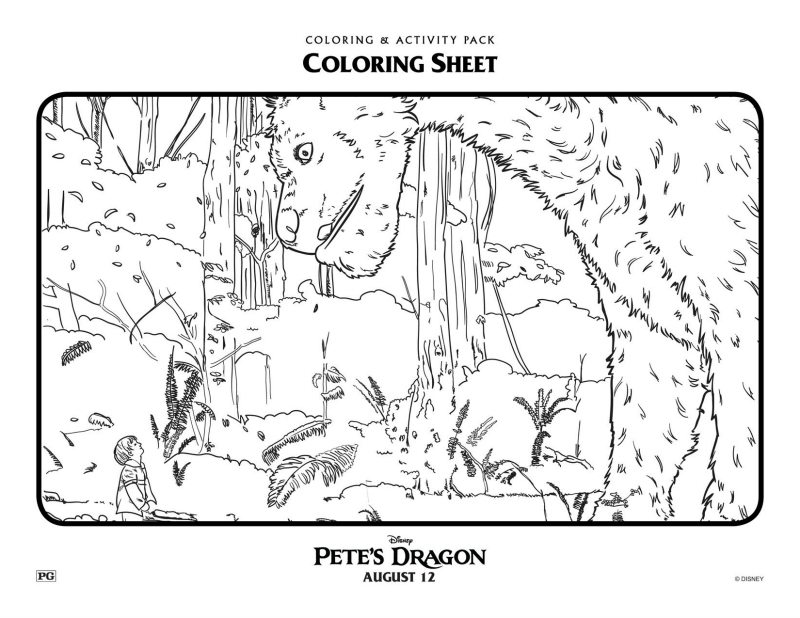 disney petes dragon coloring page