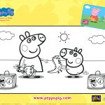 Peppa Pig Sunny Vacation Coloring Page