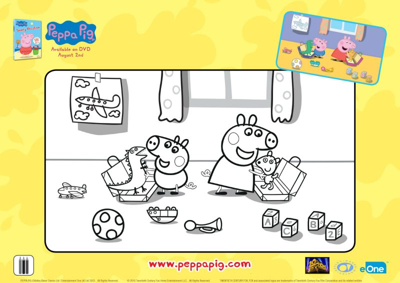 Free Printable Peppa Pig Coloring Page