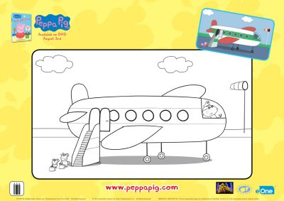 Peppa Pig Airplane Coloring Page