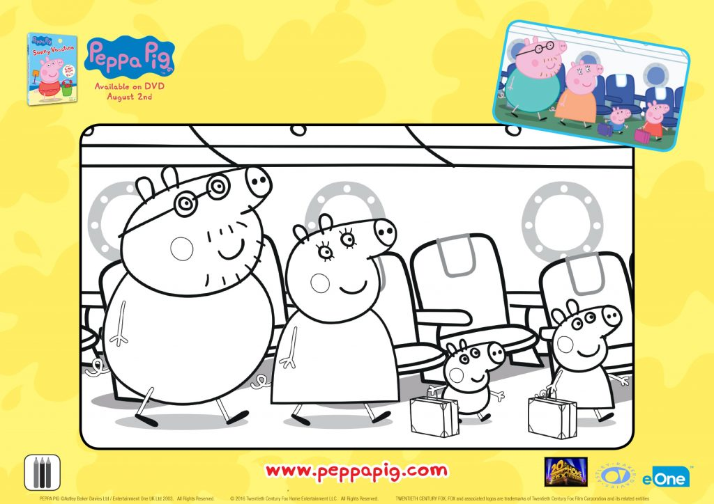 peppa pig vacation coloring page mama likes this