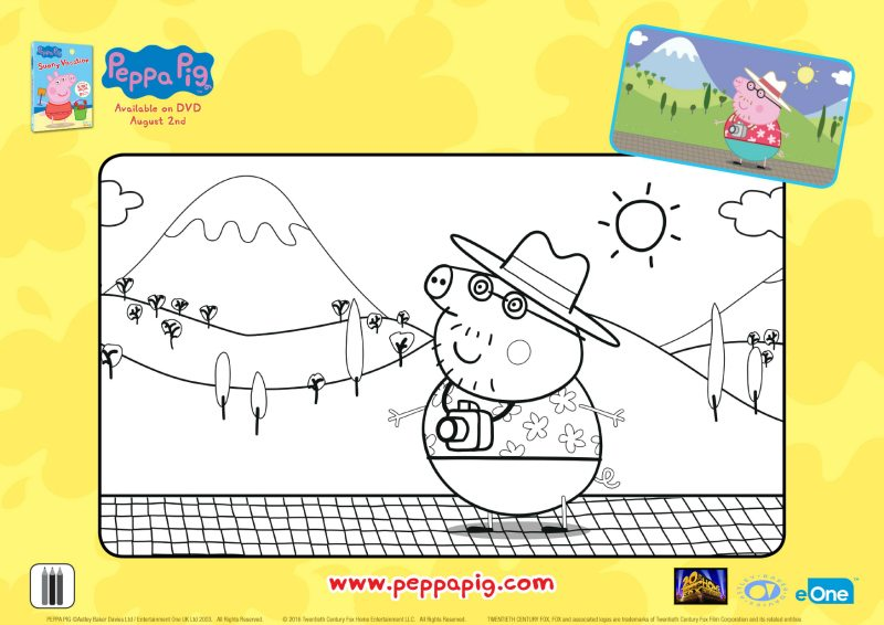 Peppa Pig Tourist Coloring Page