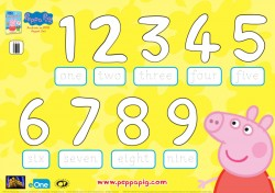 Peppa Pig Classroom Counting Coloring Page